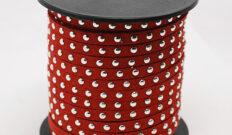 Imiteret læder med nitter 3 mm